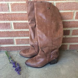 Vince Camuto Mordona Distressed Leather Boots